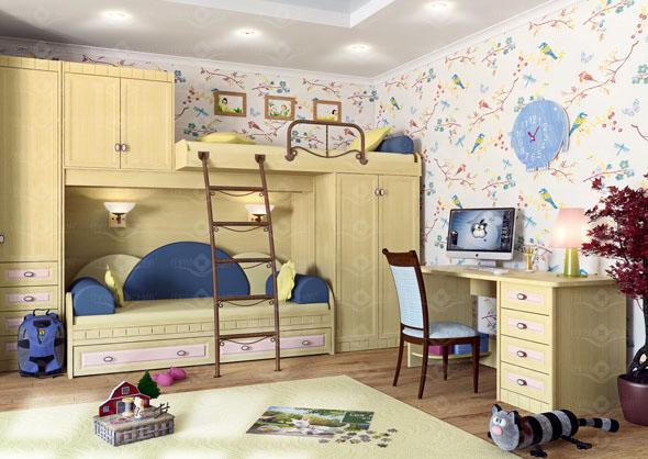 кровать, встроенная кровать в шкаф